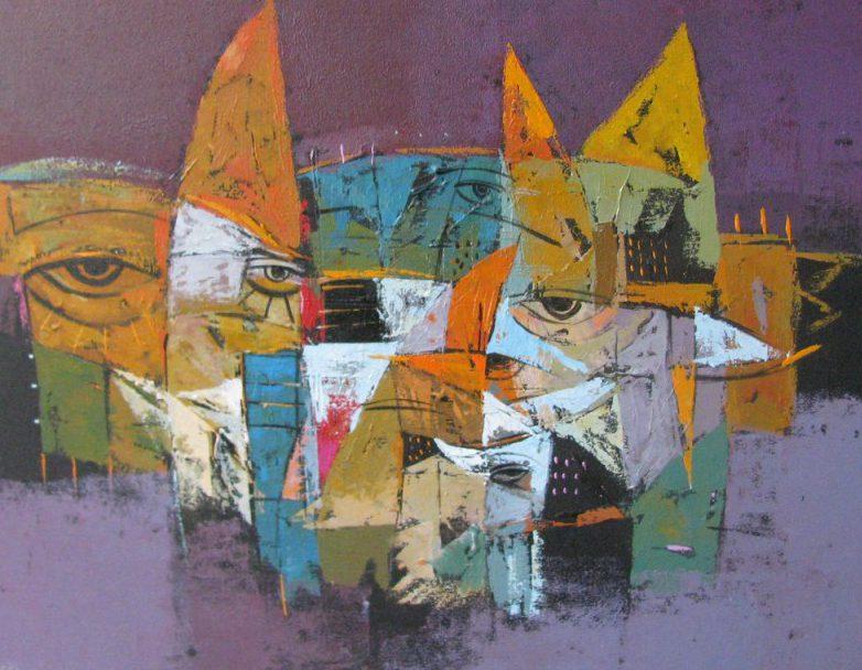 tableau moderne belles couleurs