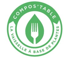 vaisselle jetable compostable